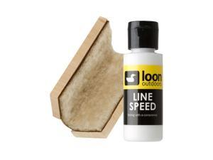 Loon Outdoors Line Up Fly Fishing Line Cleaning Kit With Line Speed Sheepskin