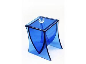 LIANG THING, Ocean Blue Glass Cotton Canister / Can / Jar / Bath / Bath Set / Bathroom Accessories