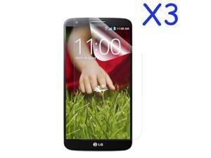 GMYLE(R) 3 Packs Ultra Clear Crystal Screen Protector Shield Film Guard for LG G2