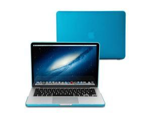 Aqua Blue Frosted Rubber Coated See Thru Hard Shell Snap On Case Skin Cover forMacBook Pro 13 inch with Retina display