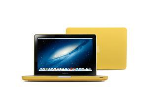 GMYLE(R) Yellow Frosted Matte Rubber Coated See Thru Hard Shell Clip Snap On Case Skin Cover forMacBook Pro 13 inch