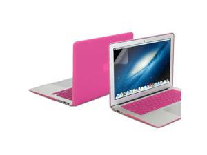 Hard Case Frosted for MacBook Air 11 - Hot Pink 3 in 1 Frosted Hard Case Cover - Keyboard Cover - 11 Screen Protector