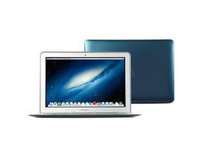Hard Case Metallic Color for 11 MacBook Air - Metallic Teal Color Rubber Coated Hard Case Cover with Black bottom case