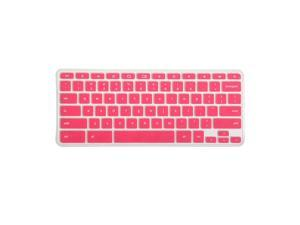 GMYLE(R)  Rose Red Silicon Keyboard Cover (US Layout) for Samsung ARM 11.6 Chromebook Series 3 XE303C12