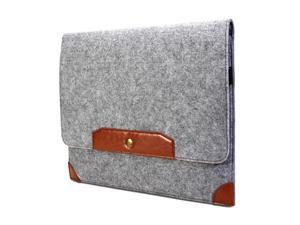 Charcoal Grey & Brown Sleeve with Microfiber Sleeve Case Cover for 13 MacBook Pro, 13 Retina MacBook Pro, 13 MacBook Air