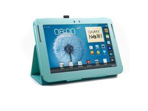 Turquoise Blue Folio Stand Case Holder for Samsung Galaxy Note 10.1 N8000 N8010 (Not For 10.1 2014 version)