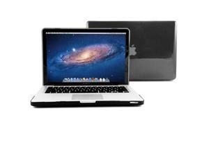 GMYLE Black Clear Crystal Coating See-through Hard Shell Case Cover Perfect fit for 13 inch Macbook Pro