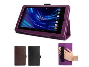 Purple Folio Stand Case Cover with Wake/Up Function & Pen Holder for  Nexus 7 inch FHD 2nd 2013 Generation (Multi Angle)