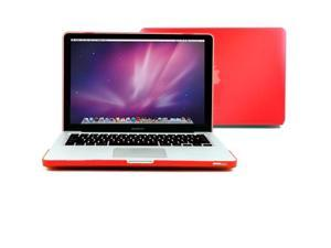 GMYLE Red Rubberized Coating See-through Hard Case Cover Perfect fit for 15 inch Macbook Pro