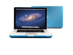 GMYLE Aqua Blue Rubberized Coating See-through Hard Case Cover Perfect fit for 15 inch Macbook Pro