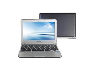 Hard Case Frosted for Samsung Series 3 Chromebook 11.6 Dark Grey 3 in 1 Hard Case Cover Keyboard Cover Screen Protector