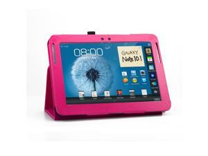 Hot Pink PU Leather Slim Folio Perfect fit Stand Case Holder for Samsung Galaxy Note 10.1 Inch N8000 N8010 Tablet