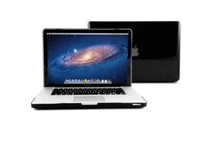 GMYLE Black Clear Crystal See-through Hard Shell Case Cover Perfect fit for 15 inch Macbook Pro