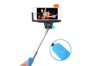 Selfie Stick Bluetooth Monopod, GMYLE® Adjustable Handheld Pole with Embedded Wireless Shutter Remote Control (Sky Blue)