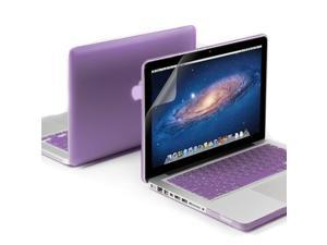 Purple Frosted Coated Hard Case Cover for 13 Inches Macbook Pro - Purple Keyboard Cover 13 inches Clear Screen Protector