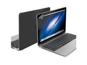 GMYLE Black 3 in 1 Hard Case Frosted for Macbook Air Retina 12 - Silicon Keyboard and LCD Screen Protector US layout