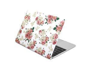GMYLE Hard Case Print Frosted for The New Macbook Retina 12 inch- Floral Pattern