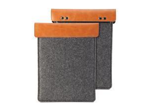 Amazon Fire HD 7 Sleeve, GMYLE Sleeve Felt for Amazon Fire HD 7 - Dark Grey & Brown Soft Sleeve Bag Case Cover