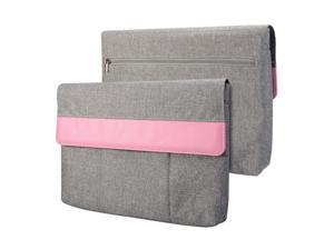 GMYLE Sleeve Cushion for Microsoft Surface Pro 3 - Charcoal Grey & Pink Soft Sleeve Bag Case Cover