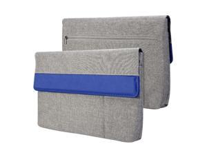 GMYLE Sleeve Cushion for Series 3 Chromebook 11.6 - Charcoal Grey & Blue Soft Sleeve Bag Case Cover
