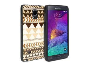 GMYLE Tribal pattern for Galaxy Note 4 IV N910 - Wood Tribal & Black Slim Fit Snap On Hard Shell Back Case
