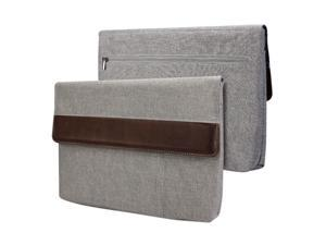 GMYLE Sleeve Cushion for Microsoft Surface Pro 3 - Charcoal Grey & Brown Soft Sleeve Bag Case Cover