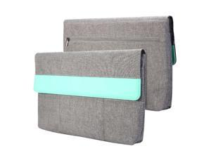 GMYLE Sleeve Cushion for Microsoft Surface Pro 3 - Charcoal Grey & Mint Green Soft Sleeve Bag Case Cover