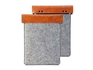 iPad mini Sleeve -Sleeve Felt -Charcoal Grey & Brown Cover
