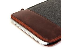 MacBook Air 11 Sleeve, GMYLE Sleeve Felt for MacBook Air 11 - Dark Grey & Brown Soft Sleeve Bag Case Cover