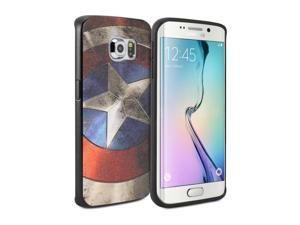Galaxy S6 Edge SM-G9250 Case, GMYLE Snap Cover Coated for Galaxy S6 Edge SM-G9250 -  Captain US Image Silm Soft Phone Ca