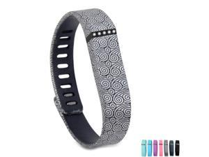 Fitbit Flex Wristband Bracelet with Clasp Replacement Accessory for Fitbit Flex Activity & Sleep Tracker - Wave Pattern