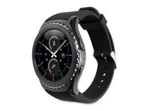 GMYLE Slap on Silicon Wristband for Samsung Gear S2 (Black)