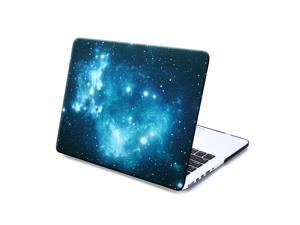 MacBook Pro 13  with Retina display Case, GMYLE Hard Case Print Frosted - Black Galaxy Pattern Rubber Coated Hard Case