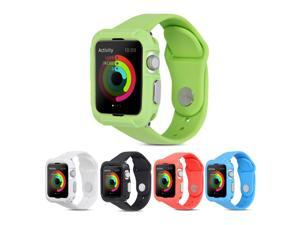 GMYLE Silicone Rubber Case Wrist Armband for Apple Watch 38mm  - Light Green