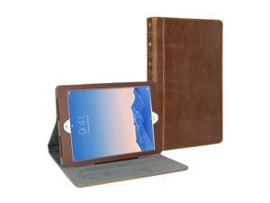 "iPad Pro 12.9"" Case, GMYLE Book Case Vintage - Brown PU Leather Protective Book style Flip Folio Slim Fit Stand Case"