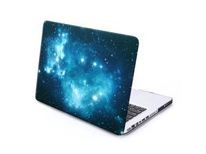 MacBook Pro 13 Case, GMYLE Hard Case Print Frosted - Black Galaxy Pattern Rubber Coated Hard Shell Case Cover