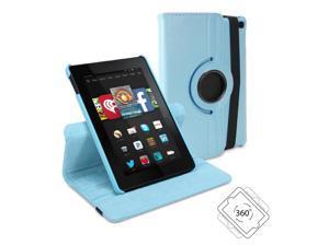 Amazon Fire HD 6 Case, GMYLE Folio Case 360 - Aqua Blue  Swivel Flip Case Cover with Multi-angle Stand Function