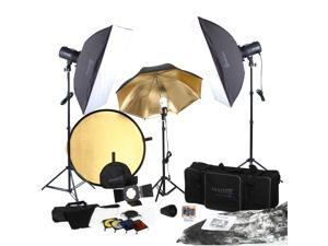 Square Perfect SP3500 Complete Portrait Studio Kit w/Flashes-Softboxes & More!