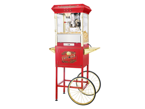 """Great Northern Popcorn Company Red Princeton Antique Popcorn Machine and Cart (Red) (62""""H x 21""""W x 29""""D) 6030"""