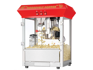 """Great Northern Popcorn Company Red Bar Style """"Roosevelt"""" 8 Ounce Antique Popcorn Machine (Red) (25""""H x 21""""W x 18""""D) 6010"""
