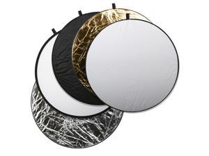 Square Perfect 43 Inch 5-in-1 Light Multi Collapsible Photo Disc Reflector