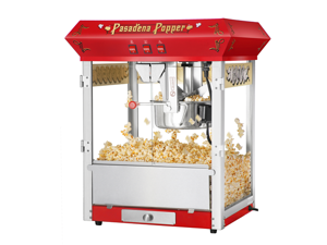 Great Northern Pasadena Red Antique Style Popcorn Popper Machine, 8 oz