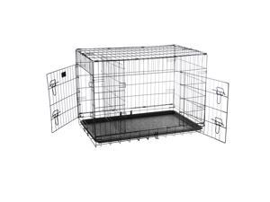 """Pet Trex 36"""" Folding Pet Crate Kennel Wire Cage for Dogs, Cats or Rabbits"""