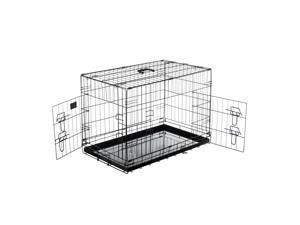 "Pet Trex PT2302 36"" Folding Pet Crate Kennel Metal Cage for Dogs, Double Door"