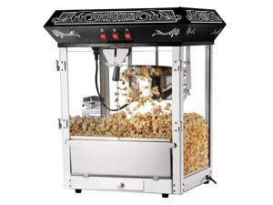 Great Northern Popcorn Black Old Time Popcorn Popper Machine, 8 Ounce