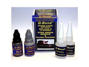 Q Bond QB2 Quick Bonding Adhesive Kit - 5ml Bottle & Aluminum Filling Powders