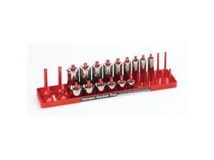 "Hansen Global 3801 Socket Tray 3/8"" Drive SAE Red Plastic"