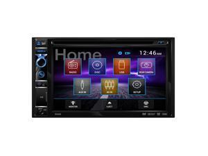 "Dual DV605 DVD/CD/MP3/WMA/Jpg Double Din 6.2"" Display 3Pr 4V Preamp Out"