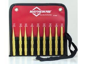 MAYHEW 61368 Roll Pin Punch Set,9-Piece,Brass G0200700