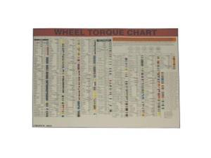 Lock Technology 1500-LWC Wheel Torque Laminated Wall Chart